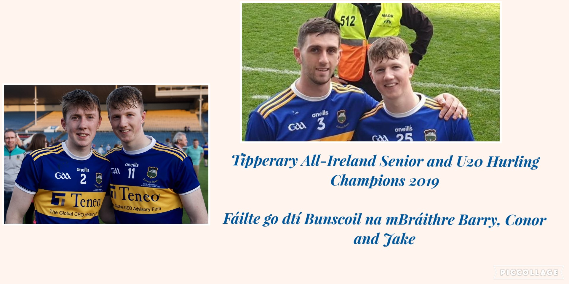 Visit of Liam MacCarthy and James Nowlan Cups 05/11/2019!